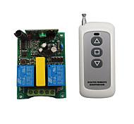 economico -ac220v 2ch rf interruttore di comando a distanza senza fili / motore su stop down / 3 pulsanti a distanza / 433 mhz