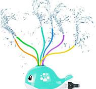 abordables -arroseur de pulvérisation d'eau pour enfants, jolis jouets d'eau de pulvérisation de baleine avec 6 tubes ondulés colorés (jusqu'à 8 pieds), amusement d'éclaboussures cool et balançant en été, jeux