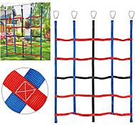 economico -arrampicata rete di carico per i bambini ninja arrampicata rete altalena scala di corda in poliestere per palestre della giungla campo da gioco rete a nastro formazione di ostacoli rete da