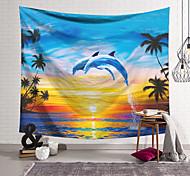abordables -Tapisserie murale art décor couverture rideau suspendu maison chambre salon décoration polyester dauphin