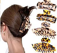 abordables -Européen et américain transfrontalier amazon acétate saisir pince à griffe de cheveux léopard combinaison personnalisable ensemble approvisionnement stable à long terme