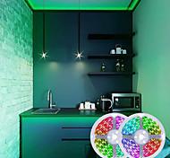 abordables -bandes lumineuses led 32.8ft 10m rgb avec 44 touches télécommande ir et adaptateur 100-240v changement de couleur 600leds smd 2835 smd 5050 lumières tiktok pour la maison chambre à coucher cuisine tv