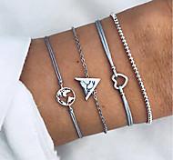abordables -style européen et américain carte d'amour dames bracelets faits à la main femmes bijoux de mode bijoux nouveau style chaud 4 pièces ensemble Vente en gros
