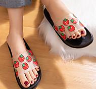 abordables -été nouveau produit pantoufles de fruits 2020 sandales et pantoufles pour la maison créatives pour usage interne et externe chaussures pour femmes à la maison Vente en gros transparent mat