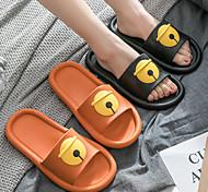 abordables -couple de dessin animé d'été enlever les chaussures, maison, intérieur, salle de bain, baignoire, chaussures, eva, sandales et pantoufles pour hommes, femmes en été