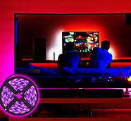 abordables -lumières de bande menées 16.4ft 5m lumières tiktok flexibles uv lumière noire 395-405nm 2835 Bande flexible menée de 8mm avec alimentation 2a pour la peinture corporelle d'éclairage de scène de danse