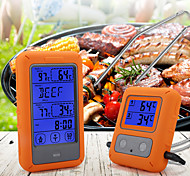 economico -termometro per alimenti senza fili touch screen a doppia forcella rilevamento sonda termometro per alimenti per barbecue utensili da cucina