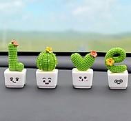 economico -set di 4 pezzi oggetti decorativi resina moderno contemporaneo impermeabile per la decorazione domestica regali amore forma cactus
