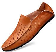 economico -2021 primavera ed estate da uomo nuove scarpe casual in pelle scarpe in pelle vuote agente di scarpe casual piselli per unirsi