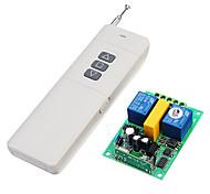 economico -433 mhz ac 220 v 2ch rf telecomando senza fili interruttore del motore 2ch ricevitore trasmettitore per motore garage schermo di proiezione della porta