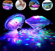 economico -luce subacquea esterna rgb set da 2 pezzi lampada da discoteca a led sommergibile lampada da festa a batteria vasca idromassaggio luci termali luce per bagnetto piscina spettacolo di bagliore luci di