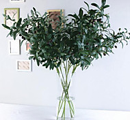 economico -10 forchette ramo d'ulivo con bouquet botanico imitazione fiore di frutta 103 * 35 cm