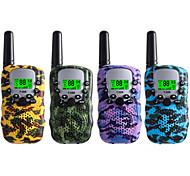economico -walkie talkie per bambini confezione da 4, 3 miglia a lungo raggio in campi aperti, radio portatile a 22 canali a 2 vie (senza batteria, mimetica)