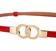 economico -cintura in pelle di vacchetta a due strati con fibbia doppia in vernice cintura in vita sottile con cappotto decorativo tutto-fiammifero