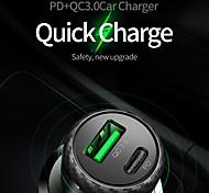 economico -MCDODO 36 W Potenza di uscita USB USB C Caricatore per auto Presa per caricabatteria USB per auto Caricabatterie portatile QC 3.0 Ricarica veloce Per Cellulari