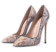 abordables -Femme Chaussures à Talons Talon Aiguille Bout pointu Peau de serpent Serpent Amande
