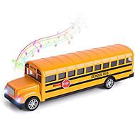 economico -Scuolabus giocattolo per i più piccoli, 8,5 pollici pressofuso tirare indietro auto autobus giallo giocare veicoli con suoni e luce