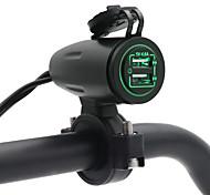 economico -caricabatteria da moto con interruttore a sfioramento a controllo indipendente 5v 4.8a lunghezza cavo 1.2m con portafusibile