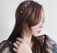 abordables -zhao liying, wu qian, le même bandeau, ornement de cheveux de perle, tempérament coréen, filet rouge, style de suspension arrière, couvre-chef de fée de la forêt, femme
