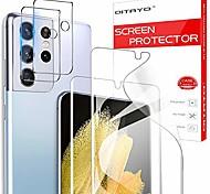economico -qitayo per samsung galaxy s21 ultra protezione per schermo e vetro temperato per fotocamera, (6,8 '') senza bolle, ultra hd, supporto per impronte digitali protezione morbida per schermo in tpu per