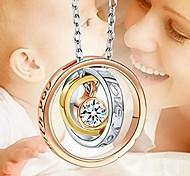 economico -Per donna Collane con ciondolo Classico Diamanti d'imitazione Lega Colore dell'immagine 48 cm Collana Gioielli 1 pc Per Festival