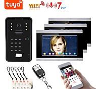 economico -videocitofono tuya wifi rfid sistema di videocitofono per impronte digitali citofono domestico con supporto da 7 pollici app remoto sbloccaggio registrazione