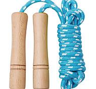 economico -corda per saltare per bambini 8 piedi corda di cotone regolabile corda per saltare fitness intrecciata e manico in legno per attività all'aperto, bomboniera, attività fisica (1 confezione)