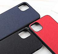 economico -telefono Custodia Per Apple Per retro Custodia in pelle iPhone 12 Pro Max 11 SE 2020 X XR XS Max Resistente agli urti A prova di sporco Tinta unita vera pelle