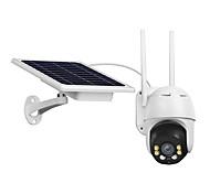 economico -Telecamera IP wifi wireless esterna Telecamera di sicurezza pan tilt impermeabile 1080p Telecamera di sorveglianza audio a 2 vie alimentata a batteria solare