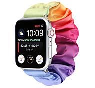 economico -Cinturino intelligente per Apple  iWatch 1 pcs Bracciale stampato Flanella multicolore Sostituzione Custodia con cinturino a strappo per Apple Watch Serie SE / 6/5/4/3/2/1