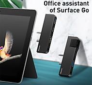 """economico -BASEUS CAHUB-FG01 USB 3.0 Tipo C to """"Jack audio da 3,5 mm"""" / USB 3.0 / USB 3.0 Tipo C / RJ45 Hub USB 4 Porti OTG"""