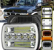 economico -otolampara 150w 7 pollici tri-fila led fari per camion angel eye drl funzione doppi colori indicatori di direzione faro per auto per jeep / dodge / chevrolet 1 pz