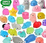 economico -28 pezzi mochi squishys giocattoli 2a generazione bomboniere per bambini regalo di compleanno per ragazza ragazzo glitter mini squishy mochi squishies animali giocattolo antistress regalo di natale