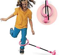 economico -palla pieghevole per saltare alla caviglia anello di salto con luce colorata lampeggiante, corda per saltare fitness gioco bruciagrassi per adulti e bambini giocattolo (rosa, blu, rosso)