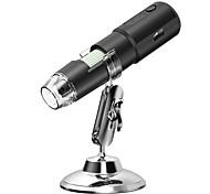 economico -microscopio digitale wifi portatile con microscopio elettronico portatile a 8 luci 50-1000x