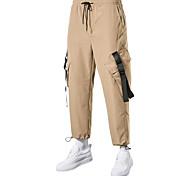 economico -Per uomo Pantaloncini Carico All'aperto Sport Casuale Sport Pantaloncini Carico tattico Pantaloni Liscio Lunghezza del ginocchio Nero Verde militare Cachi