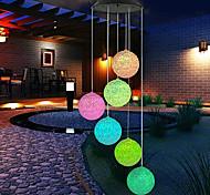 economico -solare esterno impermeabile colorato led ball light lampada a sospensione da esterno balcone giardino patio decorazione della stanza wind chime light ip65