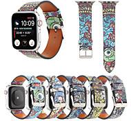 economico -Cinturino intelligente per Apple  iWatch 1 pcs Banda di cartone animato Similpelle Sostituzione Custodia con cinturino a strappo per Apple Watch Serie SE / 6/5/4/3/2/1