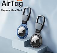 economico -custodie magnetiche per apple airtag bluetooth locator tracker sleeve custodia protettiva in metallo antigraffio anti-perso con portachiavi per airtags