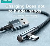 abordables -Joyroom Micro USB USB C Câble Charge Rapide 3 A 1.2m (4ft) Aluminium Nylon Pour Samsung Xiaomi Huawei Accessoire de Téléphone