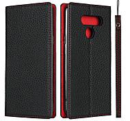 economico -telefono Custodia Per LG Integrale LG K50 Resistente agli urti A prova di sporco Con chiusura magnetica Tinta unita pelle sintetica vera pelle