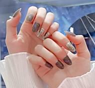 economico -indossare unghie finte patch per unghie semplice e generoso prodotto di nail art indossabile staccabile per occhi di gatto color carne