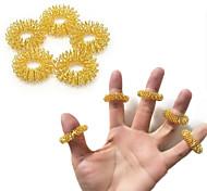 abordables -20pcs anneau de massage des doigts anneau d'acupuncture soins de santé masseur corporel se détendre massage des mains doigt perdre du poids massage masseur des mains