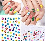 economico -nail sticker nail decal piccoli fiori freschi di primavera frangipani unghie corte jumping color nail art