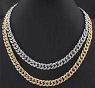 economico -Per donna Per uomo Collana Collegamento cubano Di moda Lega Colore dell'immagine 50 cm Collana Gioielli 1 pc Per