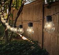 economico -ha condotto le luci della stringa solare 6m 30 lampadine luci della stringa di nozze all'aperto stringa di palla da giardino impermeabile alimentata a energia solare per natale layout della festa