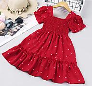economico -vestiti delle ragazze 2021 nuovo commercio estero abbigliamento per bambini estate per bambini stile coreano a pois vestito da principessa in pizzo a maniche corte occidentale