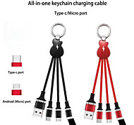 economico -Micro USB Lightning USB C Cavi Tutto-in-1 1 a 3 2.4 A 0.2m (0.65Ft) TPE Per Samsung Xiaomi Huawei Appendini per cellulare