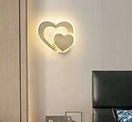 economico -applique da parete a led lampada da comodino moderna nordic oro cuore design soggiorno camera da letto lampada da parete in rame 110-120v 220-240v 10 w