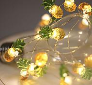 economico -LED String Light 2m 20led String Light aa alimentato a batteria ananas luci fiabesche luce calda ghirlanda di decorazioni per matrimoni per feste